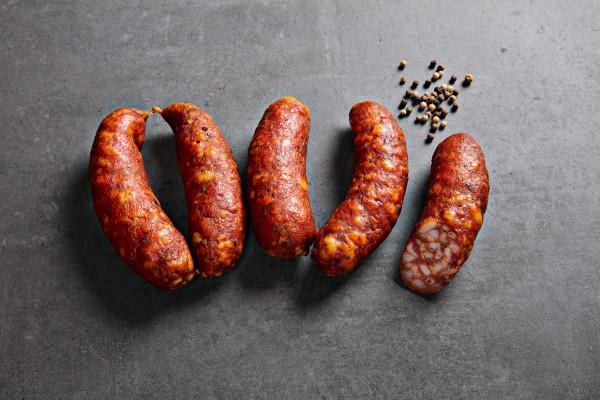 Paprika-Speck-Würstel